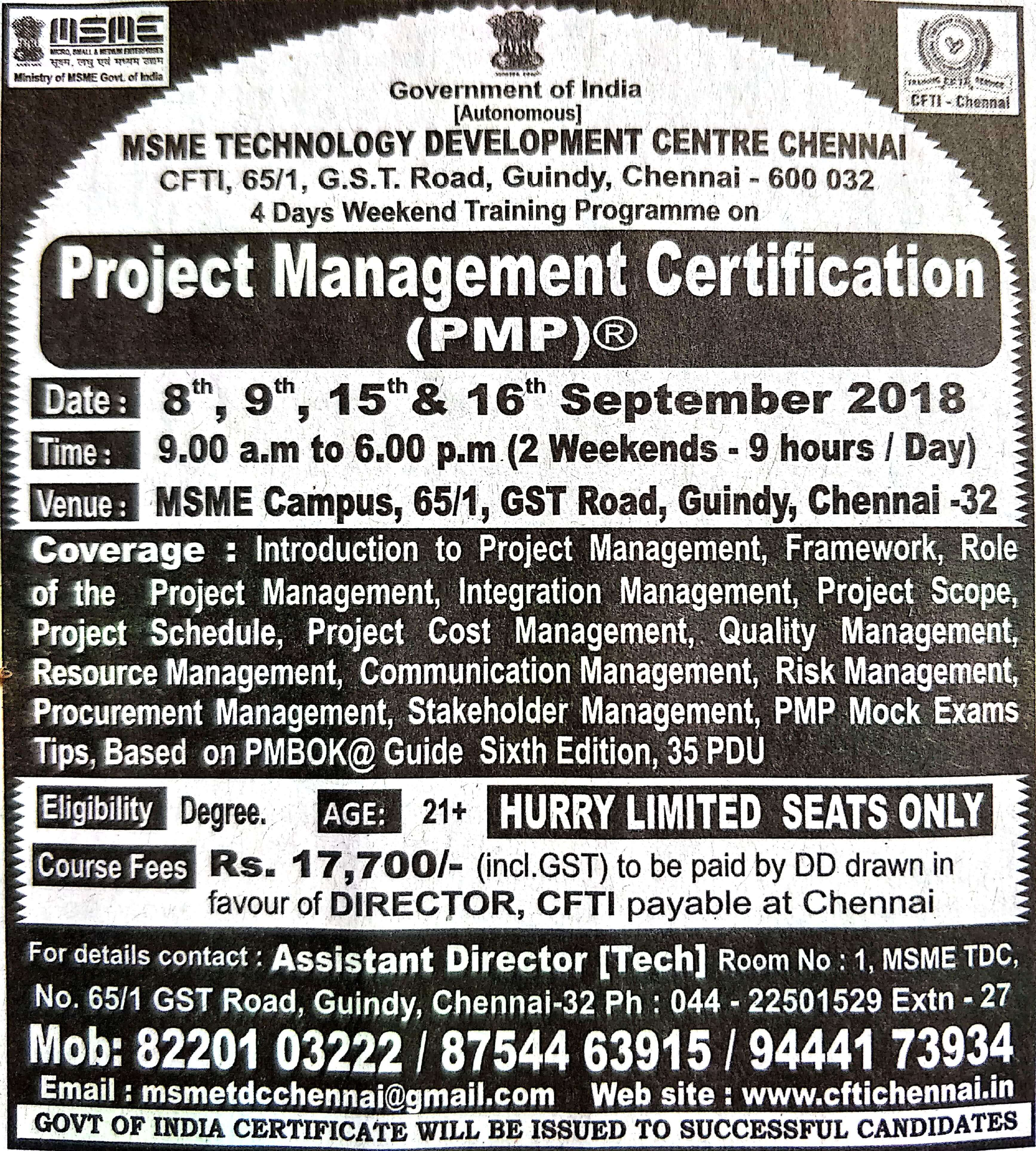 Cost For Pmp Certification In India Images Creative Certificate